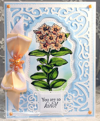North Coast Creations Stamp sets: Floral Sentiments 7, Our Daily Bread Designs Custom Dies: Vintage Flourish Pattern, Vintage Labels