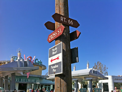 Cars Land Carsland DCA Disney California Adventure Lived-In