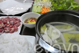 Tết Dương ấm cúng với món bò nhúng dấm