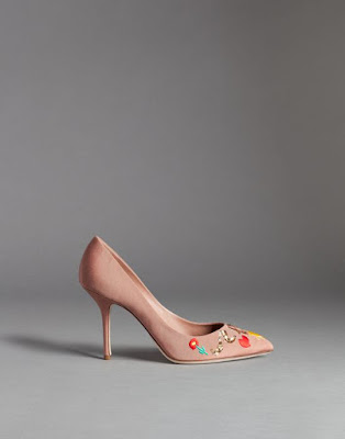 nude pumps with embroidery designs