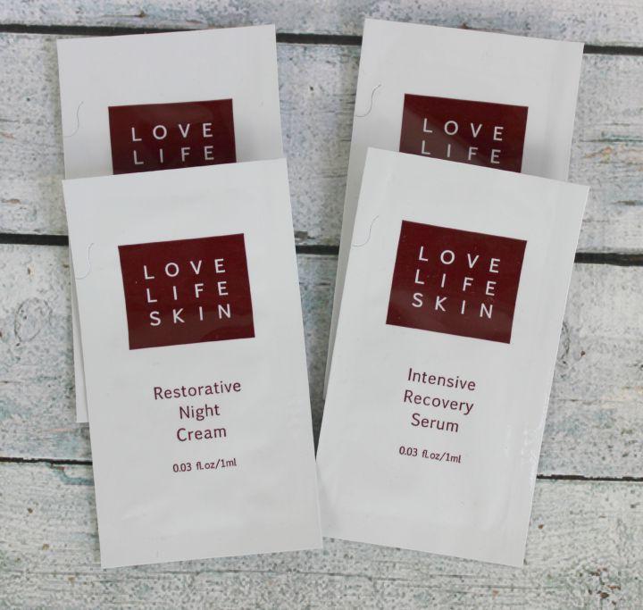 Love Life Skin Restorative Night Cream & Intensive Recovery Serum samples