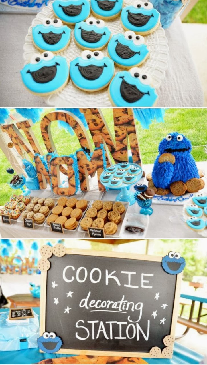 tema festa menino infantil aniversário cookie monsters