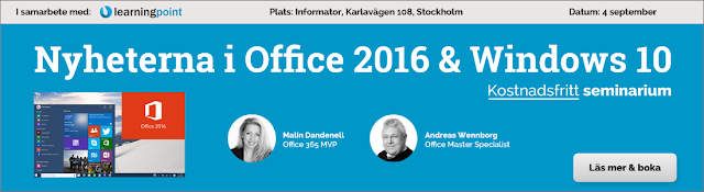Nyheterna i Windows 10 och Office 2016