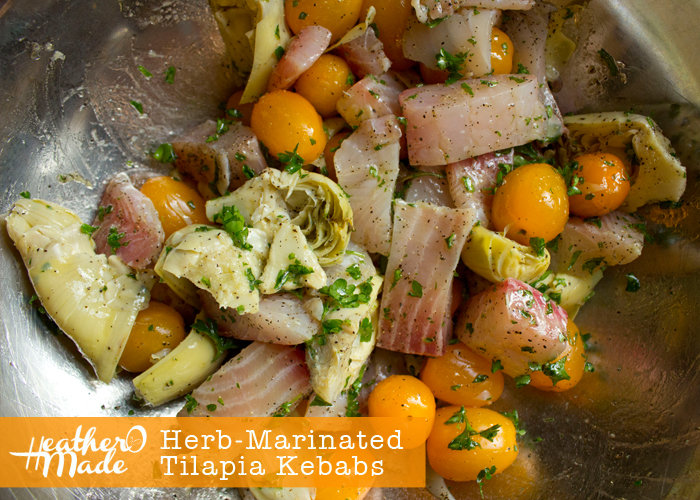 Herb-Marinated Tilapia Kebabs recipe