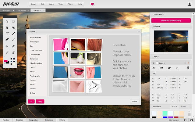 Picozu All in One Online Image Editor For Free