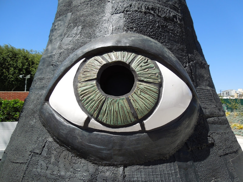 Temple of Folly sculpture eye