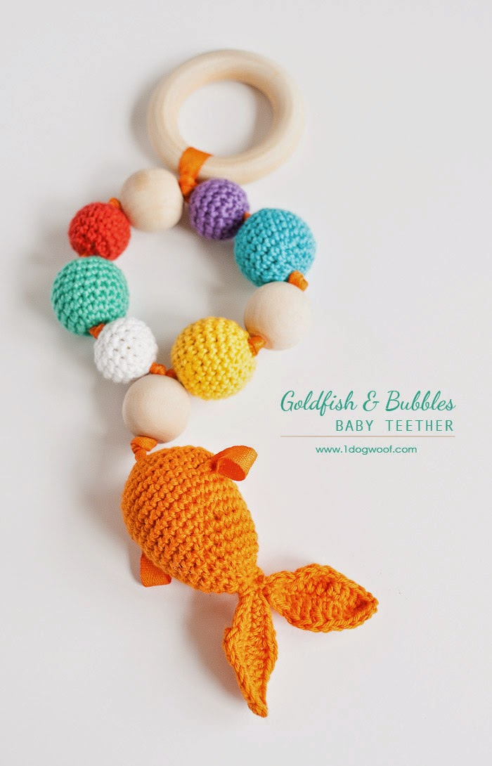 free crochet pattern goldfish teether