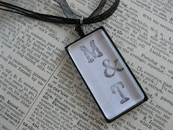 Personalized handstamped Glass Necklace