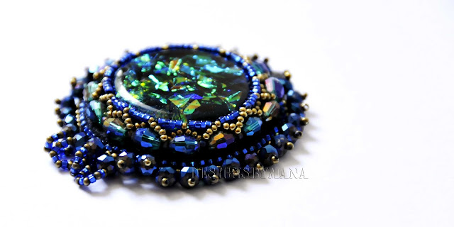 Faux Dichroic Necklace