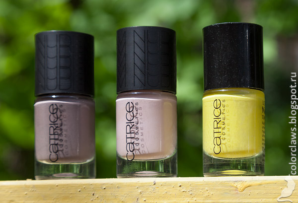 Catrice Nude Purism #01 Taupe-less + #04 Naked Brown + #12 Walk the Lime