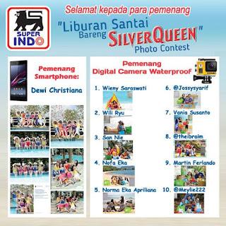 Info Pemenang - Pengumuman Pemenang Super Indo Liburan Santai Bareng Silverqueen