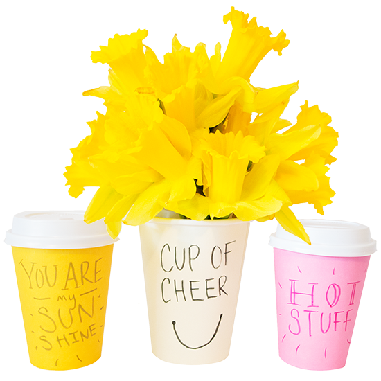 Colorful Custom Cups by Love. Luck. Kisses & Cake | LLK-C.com