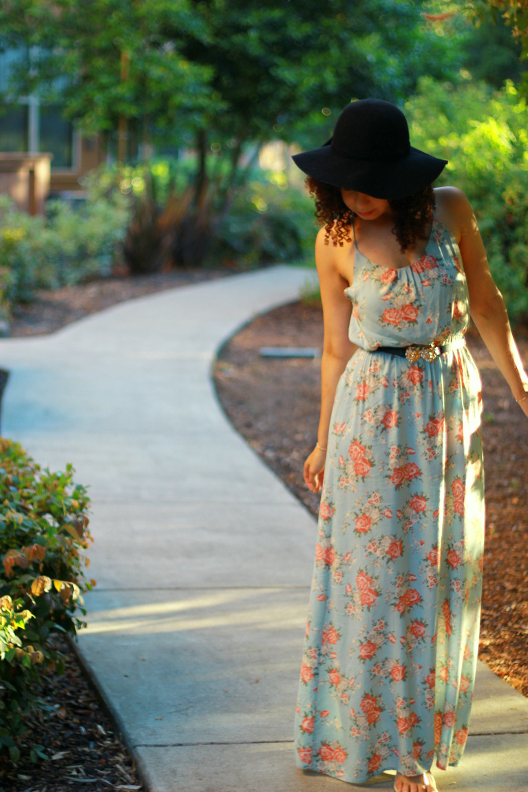 maxi dresses, maxi dress, curly hair, natural hair, bohemian style