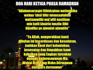 Doa Hari Ke-3 (Ketiga) Puasa Ramadhan 1436 Hijriah