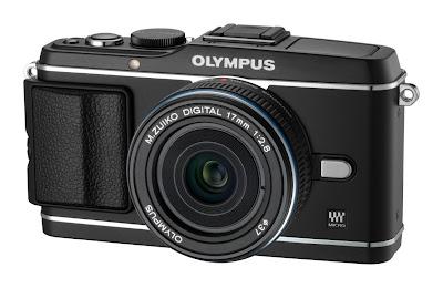 Fotografia della fotocamera Olympus PEN E-P3 nera