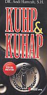 toko buku rahma: buku KUHP dan KUHAP, pengarang andi hamzah, penerbit rineka cipta