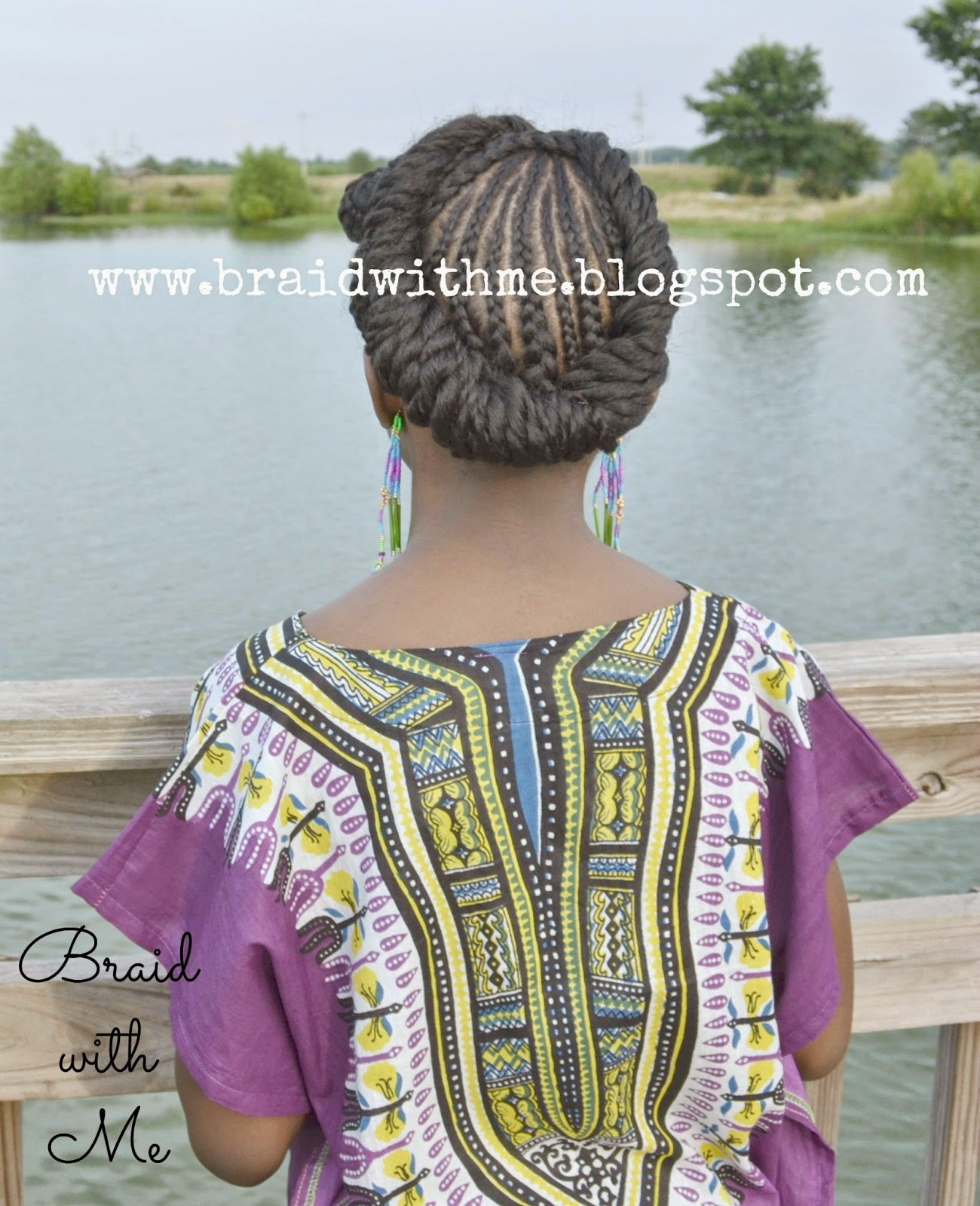 A Natural Updo: Rolled , Twisted and Pinned