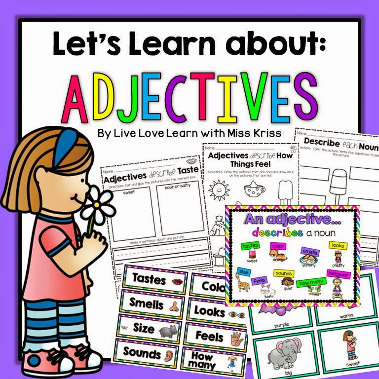 https://www.teacherspayteachers.com/Product/Lets-Learn-About-Adjectives-1583808