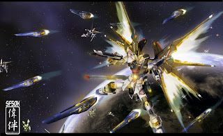 deviantart digital painting fanart gundam fan art sandrum strike freedom full burst