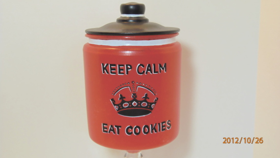 Keep Calm And Eat Cookies Cookie Jar