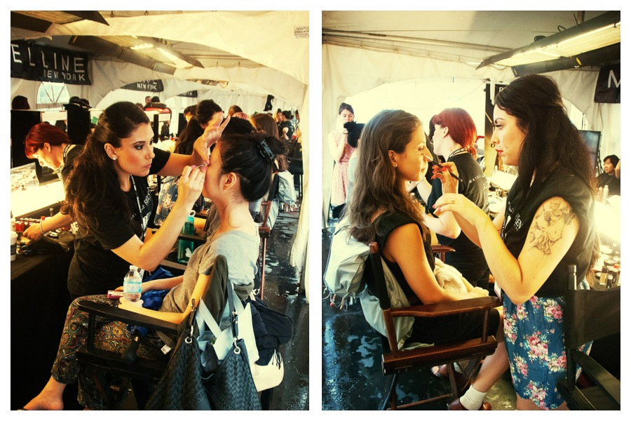 makeup beauty makeup artist backstage fashion show festival mode design Montreal
