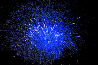 Fireworks in blue