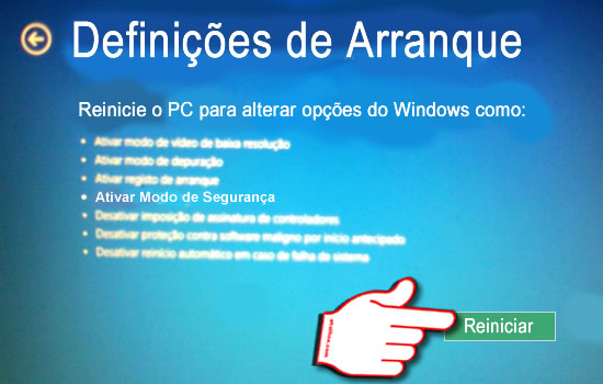 Boot Windows Definições de arranque