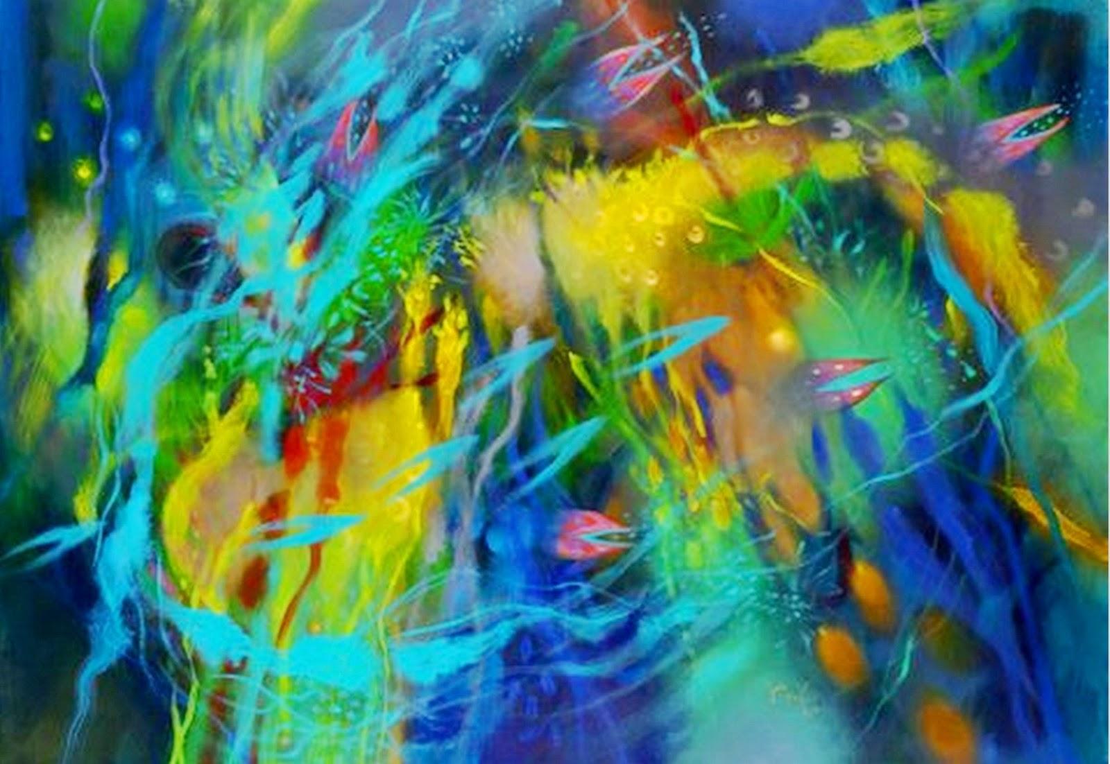 Cuadros pinturas oleos pintura al leo abstracto - Pinturas acrilicas modernas ...