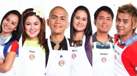 Masterchef Pinoy Edition Top 6 cooks Carla, Ivory, JR, Myra, Ronnel, and Sonny Boy