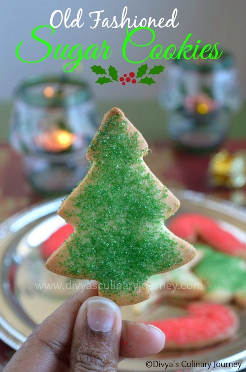 old fashioned sugar cookies christmas cookies