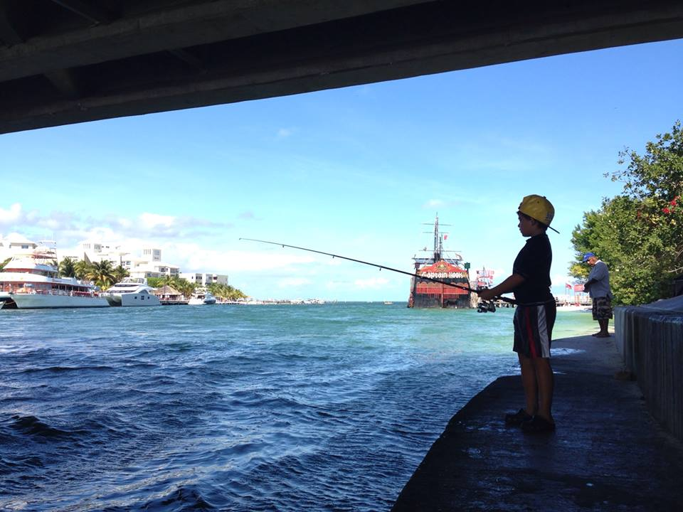 Top five shore fishing spots in cancun or how i lost my for Fishing in cancun