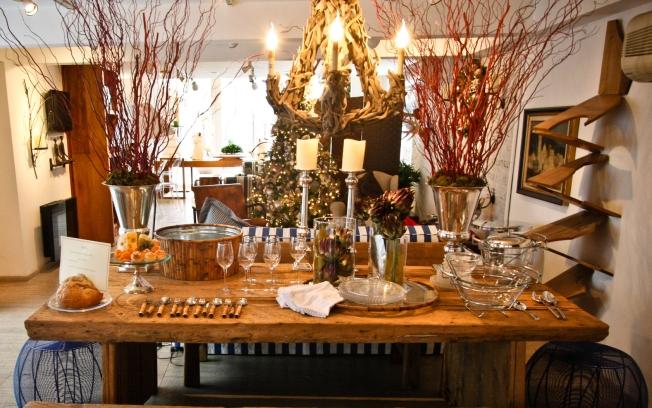 decoracao festa natal:Festa, Sabor & Decoração: Decoração de Natal rústica