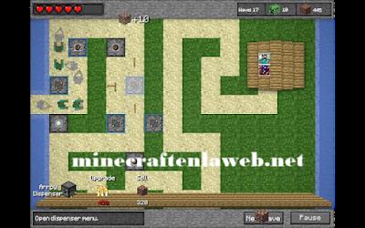 Minecraft Tower Defence - Defensa de Steve (minijuego)
