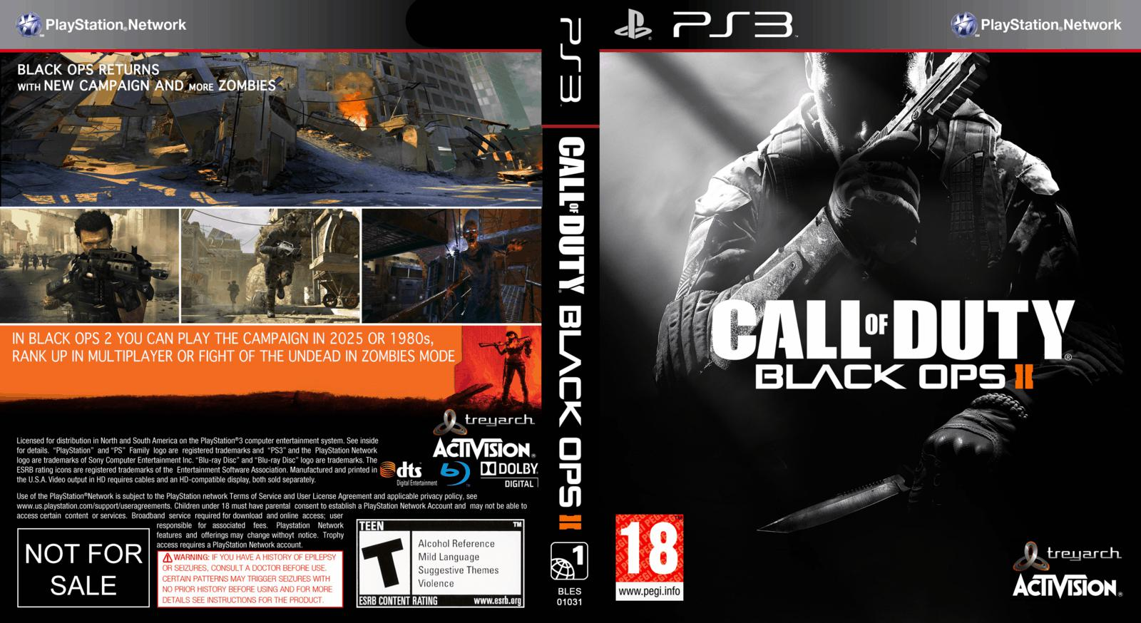 Capa Call Of Duty Black Ops II PS3