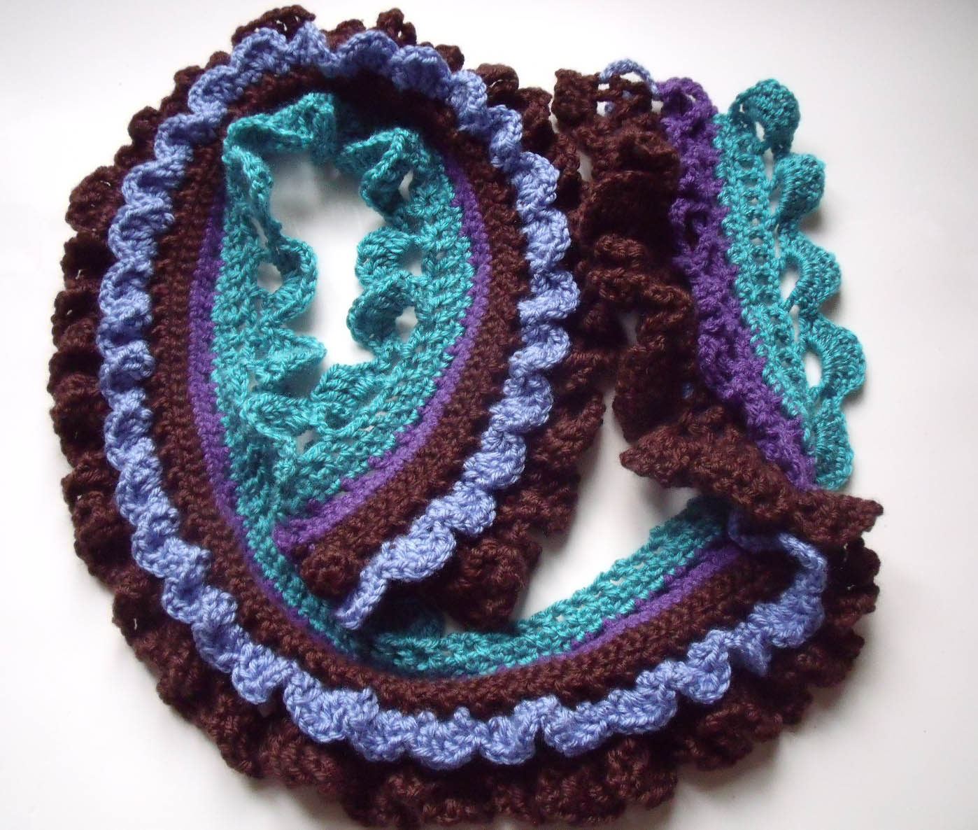 Crocheted Cancer Ribbon: