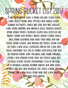 Spring Bucket List!!