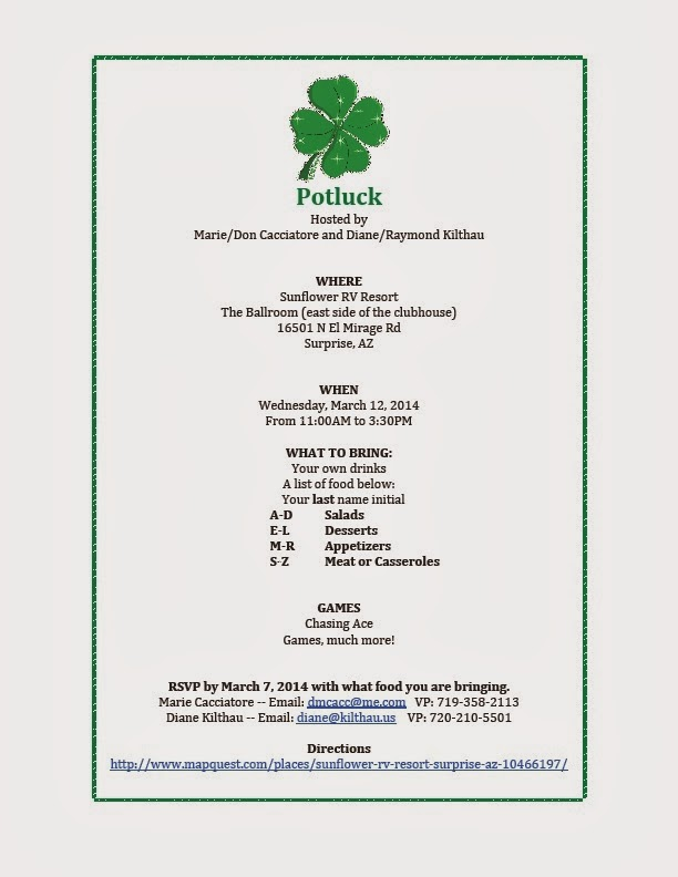 Deaf Cactus News: St. Patrick's Potluck Party in Surprise Wednesday ...