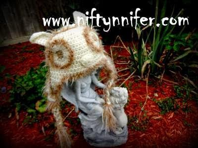 Free Crochet Pattern ~Owl Hat http://www.niftynnifer.com/2013/10/free-owl-crochet-pattern-by-niftynnifer.html #Crochet #Owl #Hat