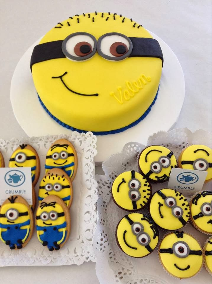 Despicable Me Minion Cake Cupcake Cookies