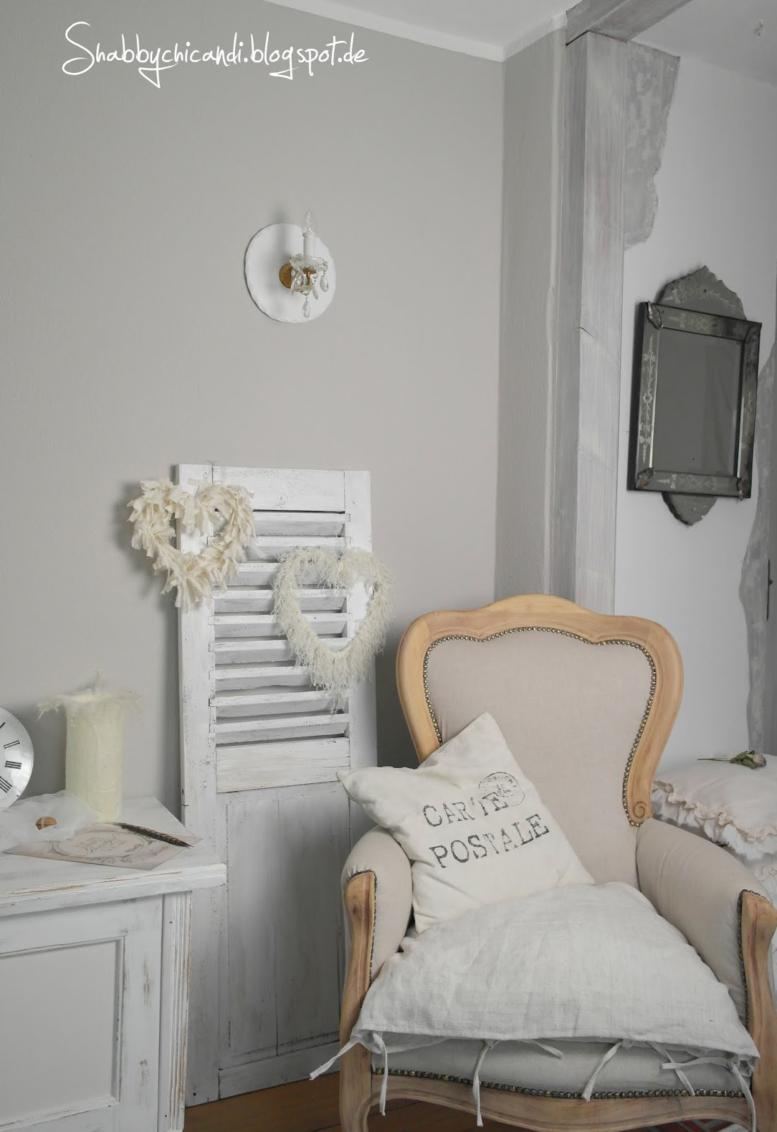 shabby chic and i shabby chic diy und deko liebesbotschaft von amor. Black Bedroom Furniture Sets. Home Design Ideas