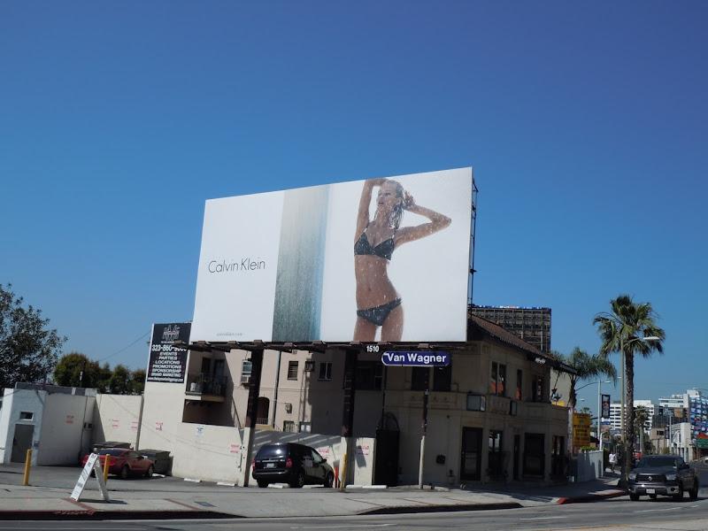 Sexy Calvin Klein bikini billboard
