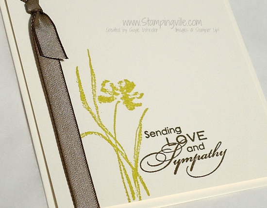 With love and sympathy. #handstamped #cardmaking #Stampingville