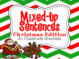 http://www.teacherspayteachers.com/Product/Mixed-Up-Sentences-Christmas-Edition-999261