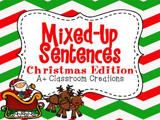http://www.teacherspayteachers.com/Product/Mixed-Up-Sentences-Christmas-Edition-999261