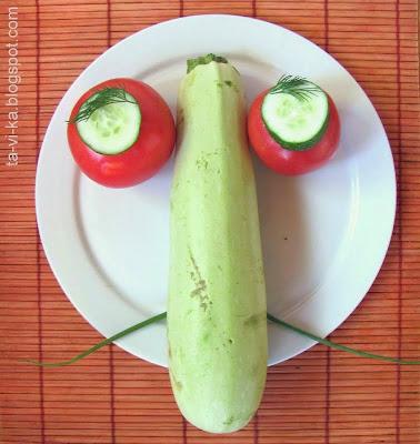 портрет из овощей