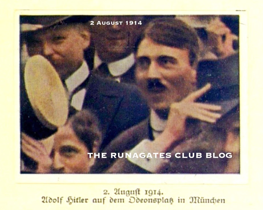 Hitler - the face in the crowd, Munich 1914, tinted