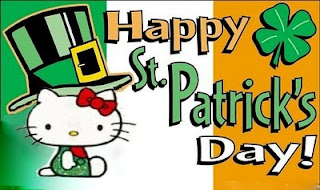 Hello Kitty Happy St Patrick's Day greeting