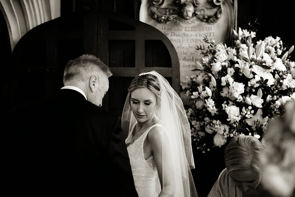 Bride and her father, London Wedding at All Saints Church in Fulham