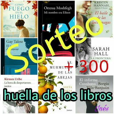 SORTEO+300. LA HUELLA DE MIS LIBROS.
