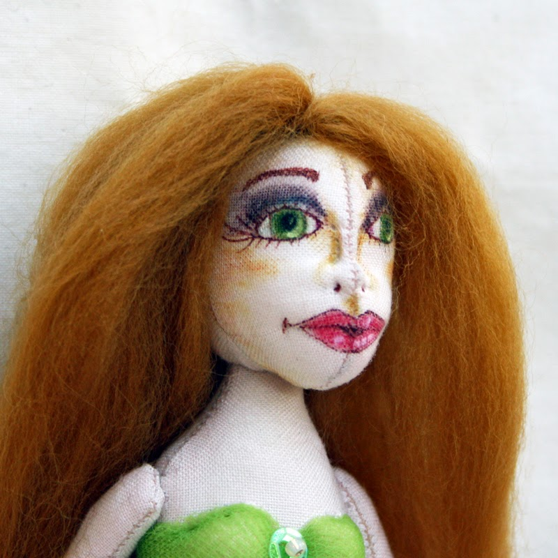mermaid cloth art doll